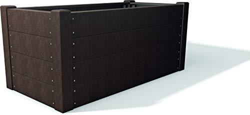 Hochbeet Terra 2 aus dem Recycling-Kunststoff hanit®, 190x90x83cm, langlebige und verrottungsresistente Alternative zu Hochbeeten aus Holz