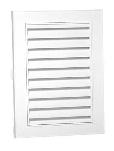 Duraflo 626080-00 Canplas Rectangular Gable Vent, 44 Sq-in, Polypropylene, 18' X 24'