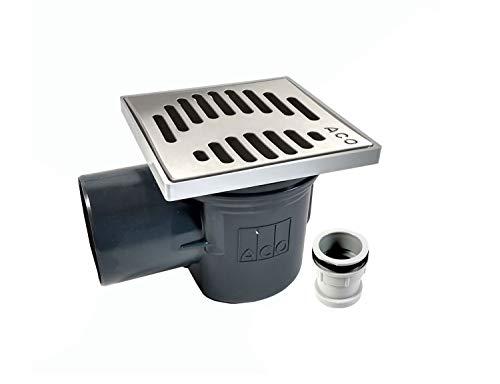 ACO Kellerablauf 310054 DN100 Bodenablauf mit Geruchsverschluß Edelstahlrost + Zulaufstutzen