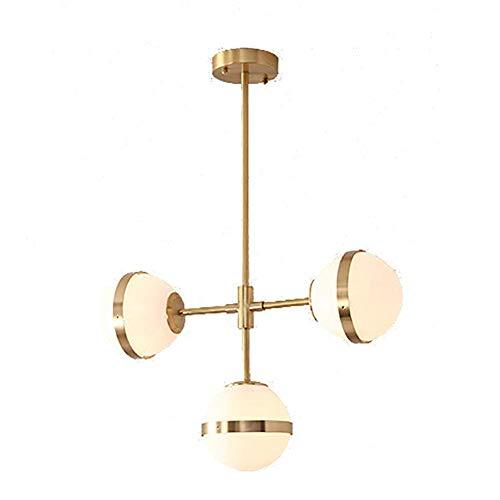 WEM Mid Century Chandelier Lámpara de Techo/Lámpara de 3 Luces, Decoración de Bolas de Vidrio, Lámpara Colgante Creativa para el Hogar E14, Iluminación Industrial de Araña de Burbujas para Pasillo,