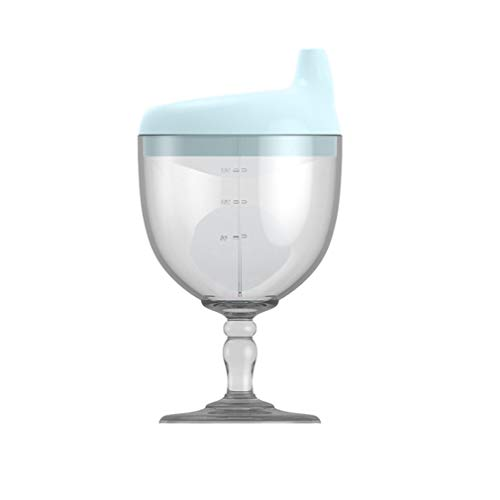 zhaoqing Copa para niños, Vino de plástico, Copa para bebé, Fiesta, Vasos sin derrames, Taza para Bebidas, Botella de Leche con Tapa