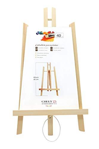 Chely Intermarket Caballete sobremesa pintura 40 cm| Para uso inmediato | Especial para la presentación de lienzos y marcos. Ideal para Eventos, Exhibiciones y Convenciones(56817-40-0,15)