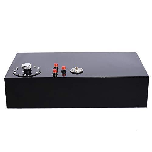 MOTOOS 17 Gallon Universal Top Feed Aluminum Racing/Drift Fuel Cell Tank & Level Sender Black