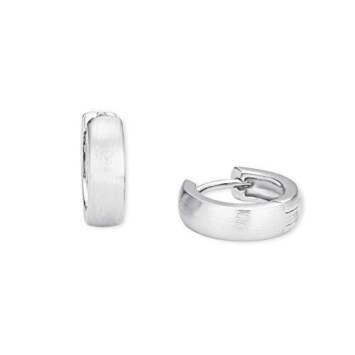 Amor Unisex Creole Earrings 925 Silver 14 mm