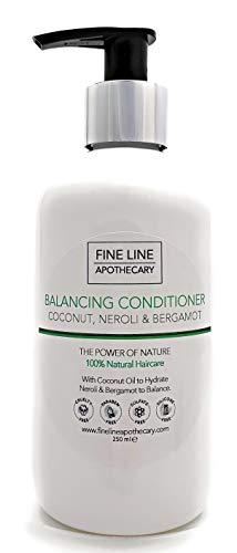 100% Natural ACONDICIONADOR - COCO, NEROLI & BERGAMOTA - 250 ml - por Fine Line Apothecary - Sin sulfatos, sin parabenos, sin productos químicos. Concentrado, fàcil de enjuagar