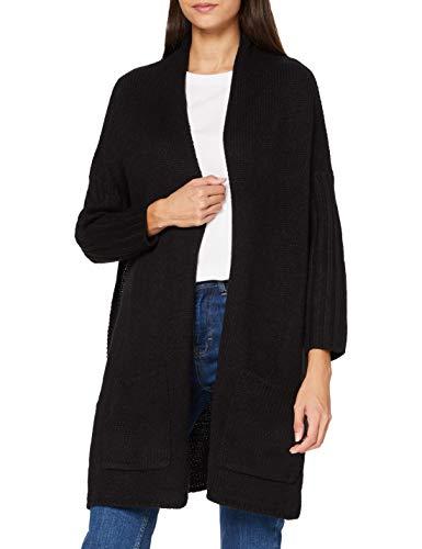 Urban Classics Ladies Oversized Cardigan Maglione, Nero/Grigio, XS Donna