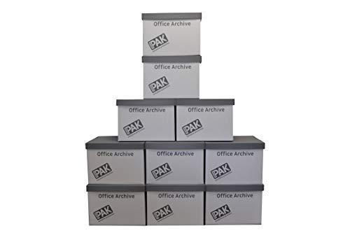 StorePAK r10817Büro Archiv Box–Weiß/Grau (10Stück)