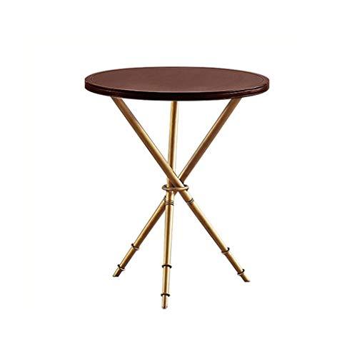 Petite Table Basse Canapé Table d'angle De Coin De Coin en Fer Forgé Salon en Bois Massif Table Basse Chambre À Coucher Table Ronde De Chevet Rangement pour la Cuisine