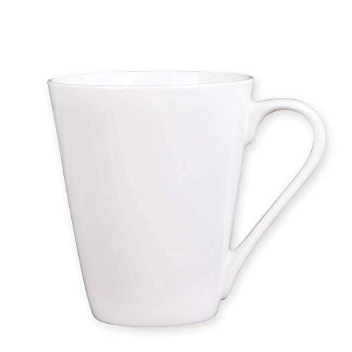 Coffee Mug Simple Pure White Large Ceramic Coffee Milk Cup Porcelain Mugs (white, 1)
