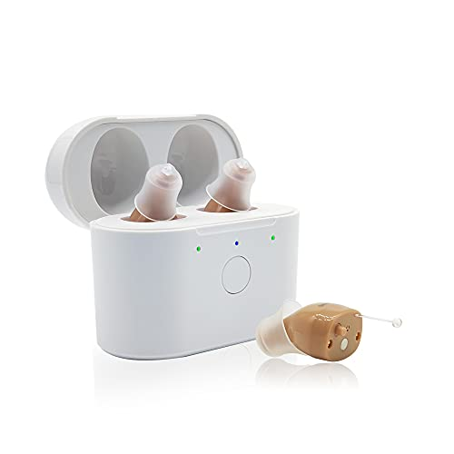 Meling C600 Hearing Amplifier Rechargeable Digital Personal Hearing Aids Noise Cancelling,Sound Amplifier Devices with Charging Box