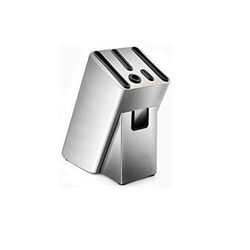 WHL Sujetador de Cuchillo Soporte de Cuchillo de Cocina de Acero Inoxidable Sin Soporte de Cuchillo Universal con hilera de Almacenamiento de Orificios con Fugas(Tamaño: 18. 3 * 11. 3 * 24.2) Estante