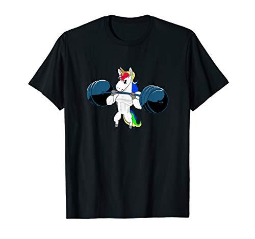 Einhorn Gewichtheben Gym Fitnessstudio T-Shirt