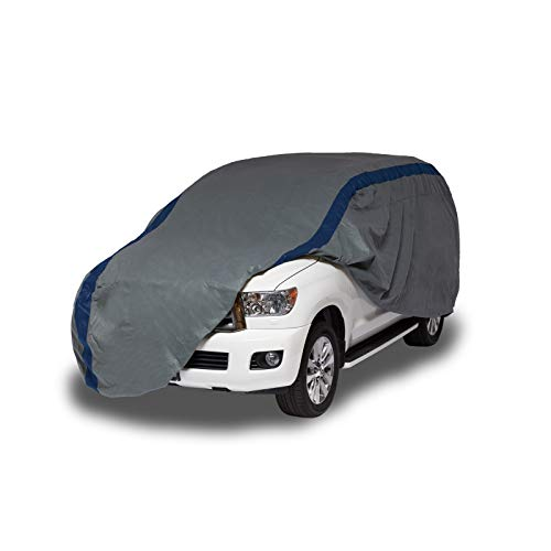 Duck Covers Weather Defender Cobertor Protector para SUV, Gris/Azul Marino