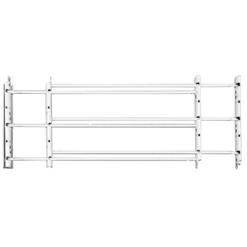 Knape & Vogt 1133 Child Safety Guard, 3-Bar: Width 24' to 42' - Max Height: 14', White