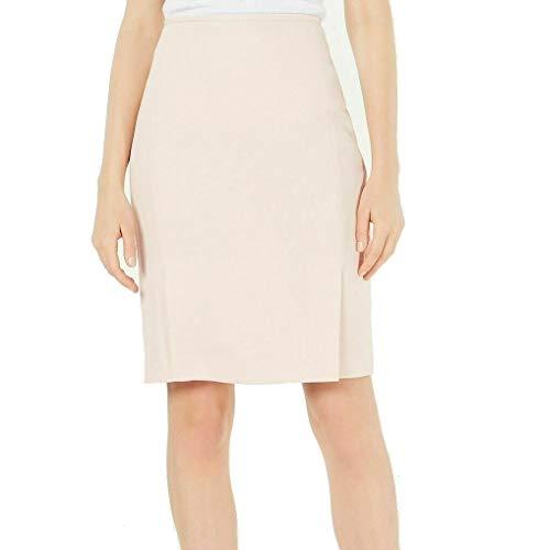 Calvin Klein Womens Petites Textired Business Pencil Skirt Pink 4P