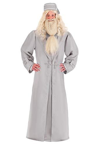Jerry Leigh Disfraz de Harry Potter Dumbledore de talla grande para adultos - gris - 2X