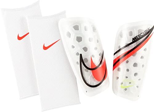 Nike SP2120 Mercurial Lite Parastinchi Unisex - adulto white/black/bright crimson S