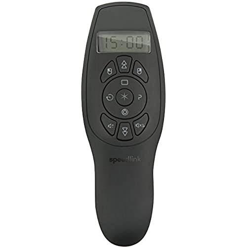 Speedlink ACUTE SUPREME Presenter - kabellos mit integriertem Laserpointer, Timer und Air-Mouse, schwarz