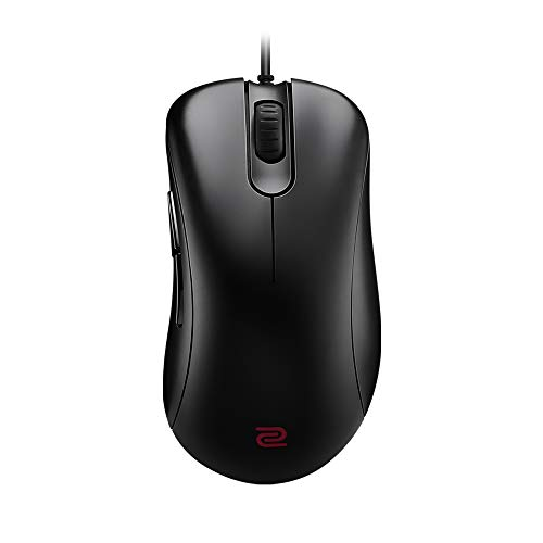 BenQ Zowie EC1 Ergonomic Gaming Mouse for Esports | Professional Grade Performance | Driverless | FPS Matte Black Non-Slip Coating | Large Size