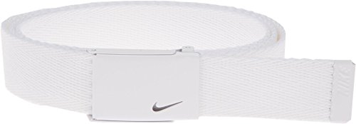 Nike Women's Tech Essentials Single Web Belt, White, One Size