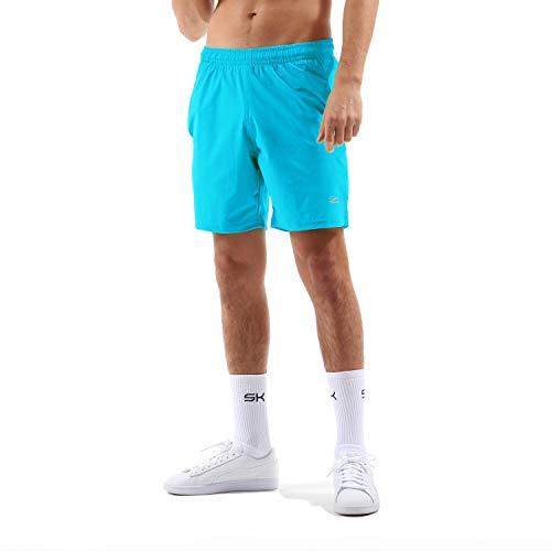 Sportkind Jungen & Herren Tennis, Training, Sport Shorts Regular Ultraleicht, hochelastisch, atmungsaktiv, UV-Schutz, türkis, Gr. L