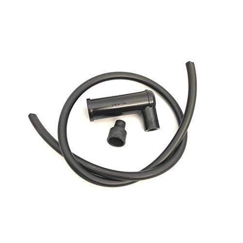 Pipa pipeta bujía NGK + 50 cm cable bujía con resistencia 5 ohm antiagua ciclomotores Ciao Si Bravo Boxer Grillo y Scooter con bujías D.14 mm