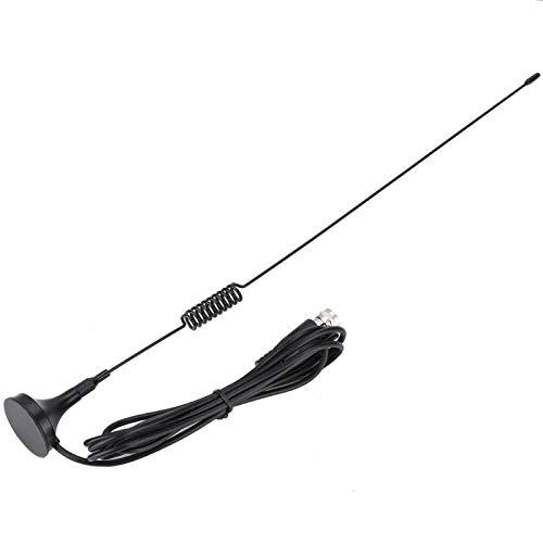 FOLOSAFENAR 1,5 m Antiinterferencias Antena de TV de Coche de Doble frecuencia Sensibilidad de la Antena magnética, Plug and Play