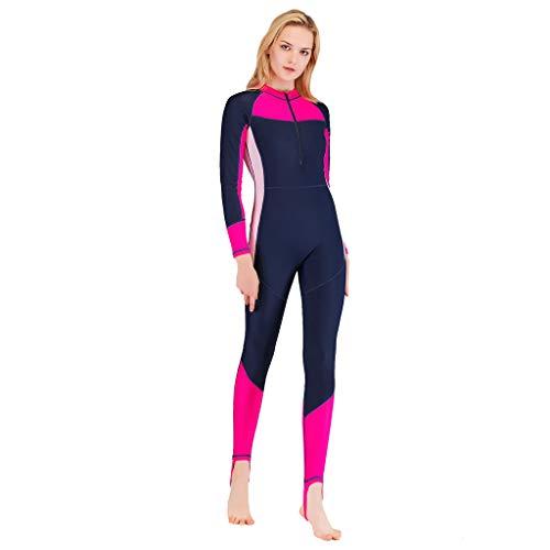 waotier Traje de Surf de Las Mujeres Trajes de protección Solar Una Pieza Remiendo Nado Surf Snorkel Buceo Mono Traje de baño