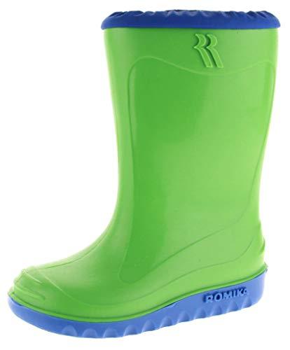 Romika Unisex-Kinder Little Bunny Gummistiefel, Grün (Lime-blau 646), 22
