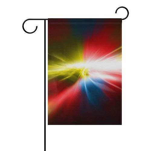 Agnes Carey Gartenflagge Aurora Bunte abstrakte doppelseitige Hofdekoration Haus Banner 12.5x18 Zoll