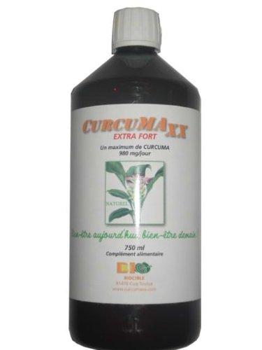 CURCUMAXx 750 ml - jus de curcumine (Curcuma) dont 95% de curcumine - Sans alco