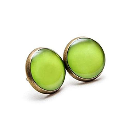 Greenery Ohrstecker, Grün Schmuck, Spring Color Fresh grün Farbe Pastell Ohrringe, leuchtenden grün Pantone Spring Ohrstecker,