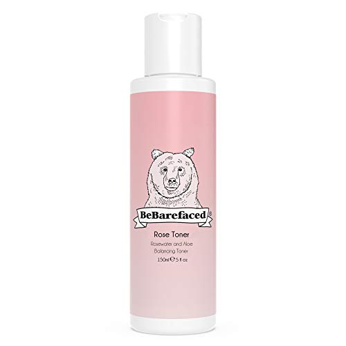 BeBarefaced Natural Rose Face Toner - Vegan Anti-Ageing Facial Tonic with Rose Water and Aloe to Hydrate and Target Wrinkles For a Youthful Glow - Refines Pores