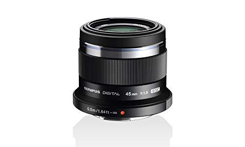 Olympus M.Zuiko Digital 45mm F1.8 Objektiv, lichtstarke Festbrennweite, geeignet für alle MFT-Kameras (Olympus OM-D & PEN Modelle, Panasonic G-Serie), schwarz