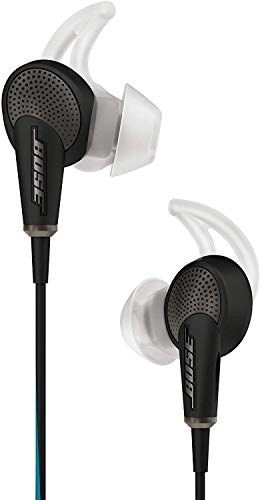 Bose QuietComfort 20 - Auriculares in-Ear Compatible con Dispositivos Apple, con micrófono, Control Remoto Integrado, reducción de Ruido, Color Negro