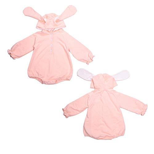 Ropa para bebés recién nacidos, Ropa para bebés recién nacidos, Adecuado para bebés, Con color puro, diseño simple,(Pink, 73)