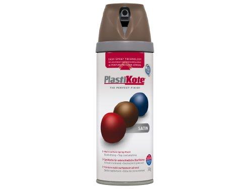 Plasti-kote 22113 400ml Premium Spray Paint Satin - Chocolate Brow
