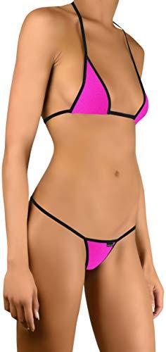 Sohimary 220 Damen Mini Bikini String Tanga XS S M 32 34 36 38 Rosa Pink