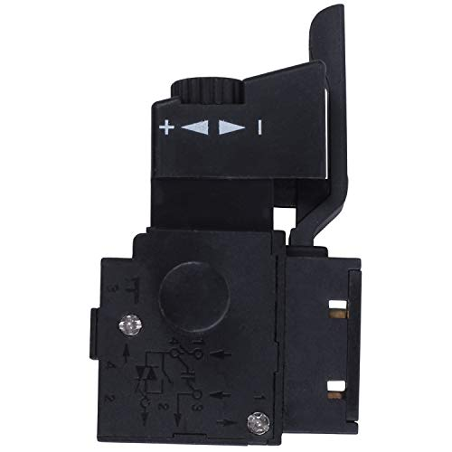 TOPSALE FA2-6/1BEK SPST Interruptor del boton del disparador herramienta electrica de bloqueo Negro
