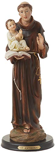 George S. Chen Imports Figura de San Antonio religioso, decoración de Estatua Religiosa, 30,5 cm