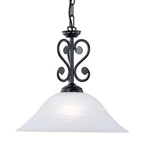 EGLO Lámpara colgante Murcia, 1 foco, vintage, rústica, lámpara de techo de...