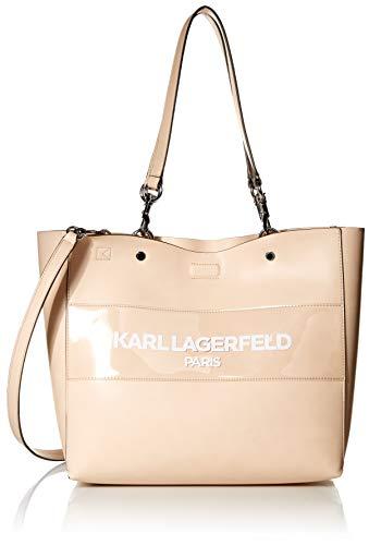 Karl Lagerfeld Paris Damen Adele PU N/S Tote Tragetasche, Dune, Einheitsgröße