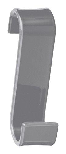 Gedy Percha Radiador, Resina, Gris, 6.7x3.2x11.7 cm