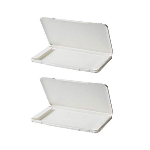 Maxpex 2PCS Aufbewahrungsbox mit Deckel, Tragbar, Rechteckig, Anti-Staub Kunststoff, Polypropylen, Aufbewahrungstasche Aufbewahrungsclips Feuchtigkeitsbeständigem für Geldbörse Taschen