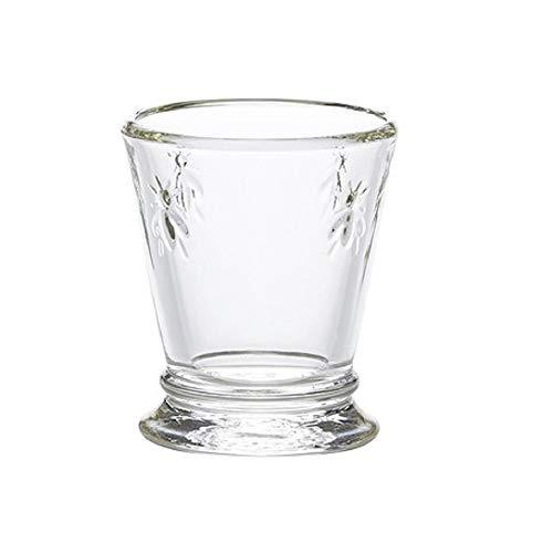 La Rochère Schnapsglas Biene Klar 60 ml - 6 Gläser - schöne Gläser Pinnchen für Shots und Drinks spülmaschinengeeignet