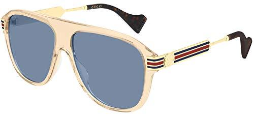 Gucci Sonnenbrille GG0587S 004 Herrensonnenbrille Farbe Braun grau Linsengröße 57 mm