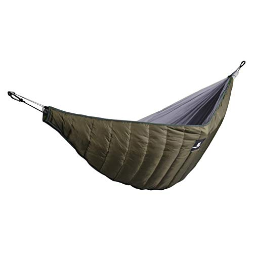 1PC/Pack Warm Cotton Hammock Hammock Underblanket Hammock Accessories Insulated Hammock Sleep Bag Ultra-light Full Length Camping Hammock Underquilt Thickened Windproof Warm Sleeping Quilt -Army Green