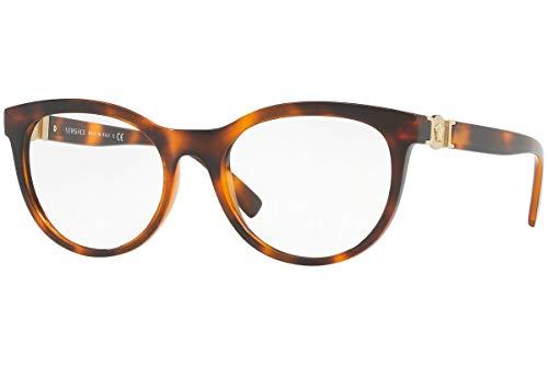 Versace VE3247 Brillen 53-18-140 Braun Havana Mit Demonstrationsgläsern 5119 VE 3247