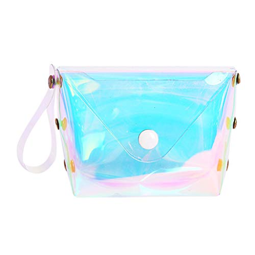 TOTOD Bags New Wallets Sale - Fashion Jelly Lucency Coin Purse Card Holder Bag Mini Money Purses Blue