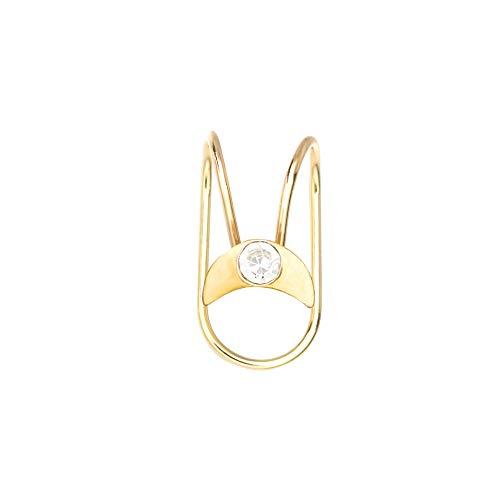 Gold Sun Star - Juego de joyas de acero inoxidable sin piercing para cartílago (tipo 8, oro)